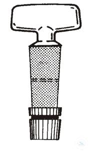 Ersatzküken NS29,2 B:10mm massiv Clé de robinet en verre NS29,2 - voie 10 mm