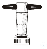 Spare plug ST14 B:4mm PTFE ST-seperate plug, ST 14,5, PTFE, bore: 4 mm