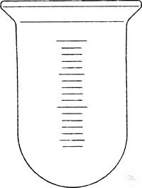 Reaktionsgefäß, 1000 ml, DN 100, runder Boden, graduiert, Ø 105 mm, Höhe 210 mm, Borosilikatglas