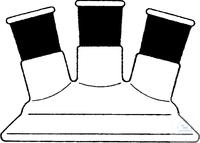 Lid, flat flange, DN 60, CN ST 24/29, 2 x angled   side neck Lid, flat flange, DN 60, CN ST...
