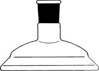 Lids, flat flange, DN 100, flange outer-Ø: 138 mm, center neck ST 29/32