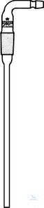 Einleitungsrohre, rechtwinklig, abgebogene Olive, Kern NS 14/23, Einbaulänge 250 mm