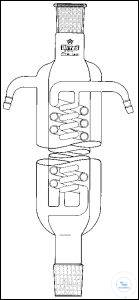 JACKETED COIL CONDENSER, WITH DOUBLE COUK CONDENSER,  CONE A JACKETED COIL CONDENSER, WITH DOUBLE...