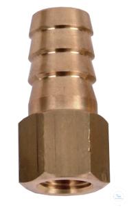Hose barb 1/2 inch, 12.5mm, 1/4PT, for alle vacuum pumps, made of brass Hose...