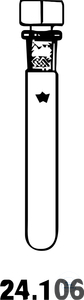 PRÜFGLÄSER 17 x 130mm PRUEFGLAESER 17 X 130 MM,  MIT HOHLSTOPFEN NS 14/23