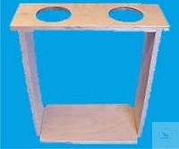 WOODEN STAND FOR SEDIMENTATION  CONES, 4 PLACES   WOODEN STAND FOR SEDIMENTATION  CONES, 4 PLACES