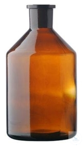 RESERVOIR BOTTLE FOR BURETTES, 1000 ML,   NS 29/32, AMBER GL RESERVOIR BOTTLE...