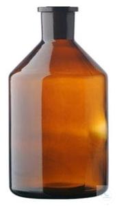 Reservoir bottle for burettes, 1000 ml, NS 29/32, amber glass,...