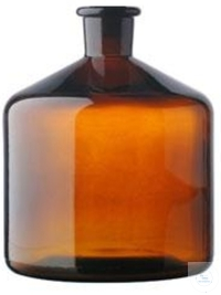 RESERVOIR BOTTLE FOR BURETTES,  2000 ML, NS 29/32, AMBER GLA RESERVOIR BOTTLE...