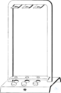 Blood sedimentation apparatus acc. to Westergren, metal support, for 5...