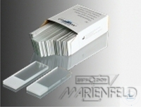 MICRO SLIDES, HALF-WHITE-GLASS, 76 X 26 MM,   CUT EDGES, IN  MICRO SLIDES, HALF-WHITE-GLASS, 76 X...