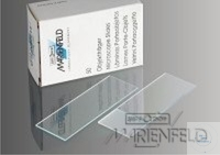 Micro slides, pure glass, fully ground edges, size 76 x 26 mm, thickness 1 mm, Case = 50 pcs.
