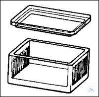 Staining jar acc. to Schiefferdecker, for 10 slides 76 x 26 mm