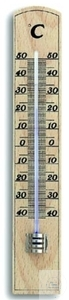 Wall thermometer, -40 + 50 °C, subdivided in 1/1 °C, with inserted spirit filled