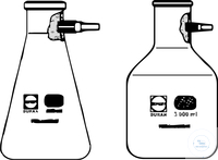 FILTRATION FLASKS, 2000 ML, ERLENMEYER, SHAPE,  WITH PLASTIC FILTRATION FLASKS, 2000 ML,...