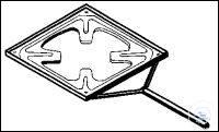 Plate holder, made of chrome-nickel-steel, for ceran-plates, 135 mm, Pack = 5...