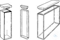 6Artikelen als: Macro rectangular cells, 3500 µl, path length 10 mm,  applic Macro...