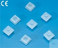 STOPPER PLUGS, FOR SQUARE   MICRO CUVETS, PE, WHITE,   CASE  STOPPER PLUGS, FOR SQUARE   MICRO...