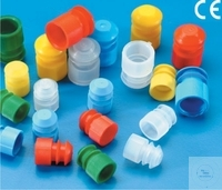 STOPPER PLUGS INTO MOUTH OF COAQULATION  TUBES 12X55 MM, PE, STOPPER PLUGS...