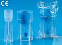 Sputum collecting containers, 16 ml, PS, with stopper and spoon, Case = 1000 pcs.