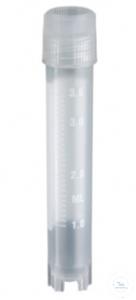Cryovials, PP, -20 -196°C, screw cap w. seal joint, 4,0 ml, round,...