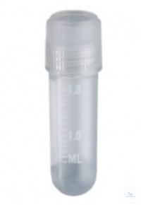 Cryovials, PP, -20 -196°C, screw cap w. seal joint, 2,0 ml, round, Case = 100...