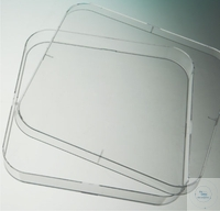 Bacteriological petri dishes, 120x120 mm, PS, square, machine sterile, with vents, Case = 10 pcs.