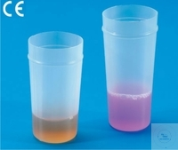 Toa-beakers, truncated cups for Toa and Royco cell counters dimensions 72 x 32 mm, PE 1 Case =...