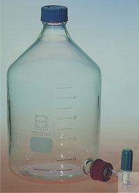 ASPIRATOR BOTTLES, BOROSILICATE, DIN 12037, WITH   SCREW THR ASPIRATOR BOTTLES, BOROSILICATE, DIN...