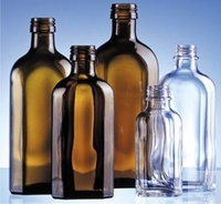 Culture bottles, Meplat, 50 ml, clear glass, with DIN-screw thread, complete with screw cap, Pack...