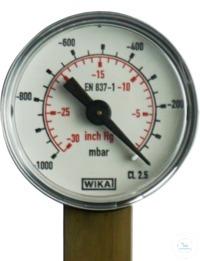 Vacuümmanometer analoog van 1000 ... 0 mbar, 760 ... 0 mm Hg