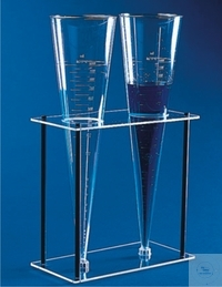 Sedimention cone stand, made of SAN, for two cones, dimension 150 x 300 x 294 mm
