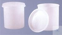 Probenbehälter, 100 ml, Dose mit Deckel, PE-HD, Höhe: 61 mm, VE = 100 Stück