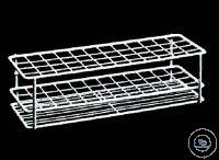 Test tube racks, stainless steel wire, H. 70 mm, L. 210 mm, W. 210 mm, compartment size 18 x 18...