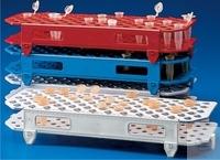 Reagenzglasgestelle, PP, zerlegbar, 100 Stellplätze, sterilisierbar bis 121°C, für...