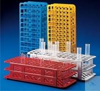 Reagenzglasgestell, PP, zerlegbar, 90 Stellplätze, sterilisierbar bis 121°C, für Reagenzgläser D....