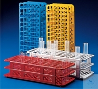 Test tube racks, divisible, PP, 24 holes, autoclavable up to 121°C, for test tubes O.D. 30 mm,...