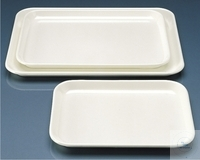 TRAY INSTRUMENTS,MF, FLAT DESIGN,WHITE  190X150 MM, HEIGHT 1