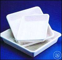 TRAYS,WHITE,PVC,  300X350 MM, HEIGTH 85 MM  TRAYS,WHITE,PVC,  300X350 MM, HEIGTH 85 MM