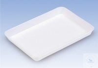 TRAYS, PS, WHITE,  DIMENSTIONS: 335 X 255 MM,  HEIGHT: 40 MM TRAYS, PS, WHITE,  DIMENSTIONS: 335...