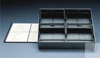 STORAGE BOX WITH 4 INSERTS,PS, 192 X 169 MM, HEIGHT: 39 MM, PACK = 3 PCS