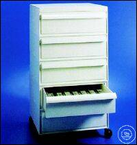 STORAGE CABINET, ABS, FOR SLIDES WITH   5 DRAWERS, TOTAL CAP STORAGE CABINET, ABS, FOR SLIDES...