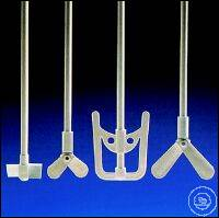 Stirrer Shaft, Ø8mm, 2 moveable blades,  width 60mm, PP Stirrer Shaft, Ø8mm, 2 moveable blades,...
