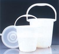 EIMER 5Ltr PE WEISS GRADUIERT Eimer, 5 Liter, PE,  Ø 250 mm, Höhe 240 mm,  graduiert, weiß,  VE =...