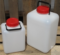 CARBOYS, PE,WIDE MOUTH, TETRAGONAL, WITH SCREW-CAP,5 L