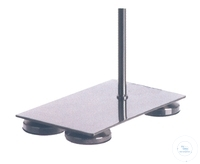 Stand bases, 250 X 160 mm, thread M10, 1 adjustable foot,  w Stand bases, 250 X 160 mm, thread...