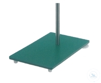 Stand base made of stell hammereffect green painted, with winding M10 for rod, Dimensions 300 x...