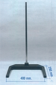 U-shaped Stand, 400 x 290 mm, length 800 mm, stainless steel rod Ø 20 mm,...