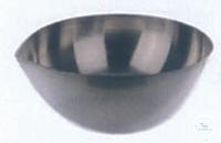 Abdamfschale 250ml runder Boden mit Ausguss H:50mm A-Ø:100mm aus Nickel 99,5%...