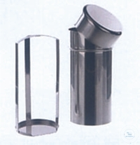 Sterilizing boxes for 10 petri dishes Ø 100 mm, A.Ø 120 mm, height 250 mm, stainless steel
